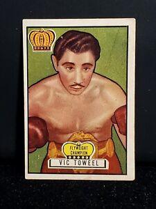 1951 TOPPS RINGSIDE #36 VIC TOWEEL BOXING CARD (SET BREAK)