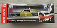 AUTO WORLD 1/18 AMERICAN MUSCLE1966 CHEVROLET BISCAYNE MARYLAND POLICE CAR 1030