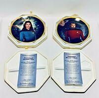 Vintage 2 Star Trek Hamilton Collection , Mint w/ Certificate of Authenticity