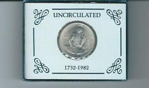 1982 Uncirculated Silver Washington Commemorative Half Dollar N/B