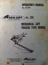 New ListingNew Idea Mechanical Trailer type Sickle Bar Mower no. 251 Owner & Parts Manual