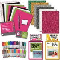 Silhouette Bundle - Vinyl, Transfer Tape, Glitter HTV, Tools, 24 Sketch Pens