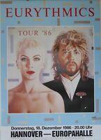 Eurythmics - Hannover 1986 Rare Original Tourposter