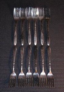 Vintage Silveplate Flatware Lot (12) Forks Queen Ann St Moritz 1847 Rogers Bros