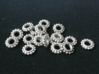 Free Ship 50pcs 8mm Tibetan Silver Wheel Style Metal Charms Findings Spacer Bead
