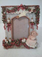 Christmas Teddy Bear - Photo Picture Frame - 3D Resin - EUC