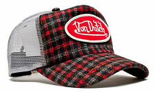 De van Dutch Mesh Trucker base cap [red Flannel/Gray tapa] gorra sombrero basecap