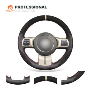 Black Leather Suede Wheel Cover for Jeep Compass Grand Cherokee Wrangler Patriot