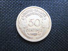 50 centimes Morlon bronze-alu 1933    TB +