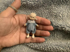 Miniature handmade MINI BANY GIRL TODDLER ooak DOLLHOUSE JOINTED SCULPTED DOLL