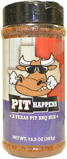 PIT HAPPENS Texas Pit BBQ Rub - 13.5oz  -  Seasoning Grill Weber Ribs beef pork