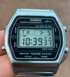 CASIO W750 248 MARLIN LCD JAPAN ALARM CHRONO TIMER VINTAGE FULL WORKING
