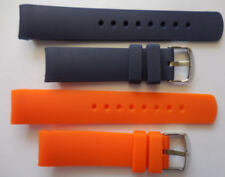 22mm Replacement Blue & Orange Silicone Band Fit Nautica NST N14555G etc Watch