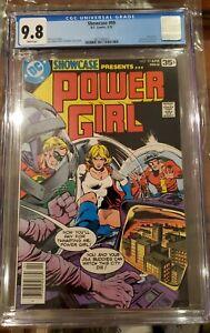 Showcase 99 CGC 9.8 Bronze Age Key DC Comic Power Girl white pages
