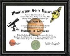 Astronomy Lover's Doctorate Diploma / Degree Custom made and Designed for you
