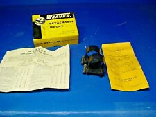 "Vintage Weaver 1 "" Detachable Top Mount Steel Scope Rings w/ Box & Instruction"