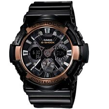 Casio G-Shock GA200RG-1A Black Rose Gold XL Analog Digital Watch GA-200RG-1A