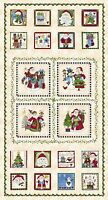 "Fabric Christmas Just be Claus on Cotton Panel 24""x42"""