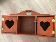 Farmhouse Country Style Wood Wall Shelf Heart Design Knick Knack Display