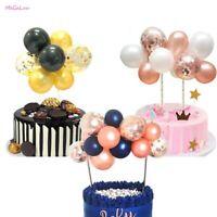 14 pcs Confetti Balloon Set Cake Topper Baby Shower Wedding Birthday Party Decor