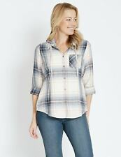 NEW Womens Rivers Long Sleeve Hooded Flannel Check Shirt   Blouses Shirts Tops