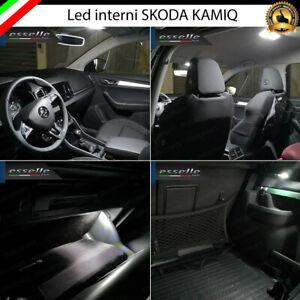 KIT LED INTERNI SKODA KAMIQ CONVERSIONE COMPLETA CANBUS 6000K BIANCO GHIACCIO