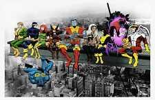 Superheroes Friends Lunch Atop A Skyscraper Art Poster T1687 |A4 A3 A2 A1 A0|