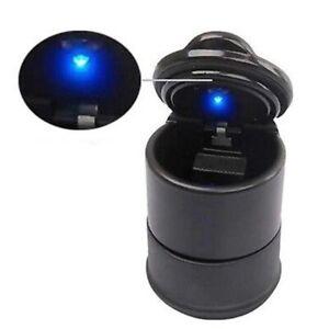 New Portable Car Auto Ashtray Blue LED Light Smokeless Ashtray Cigarette Holder