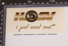 GENUINE VINTAGE HOLDEN HSV SPECIAL VEHICLES SOUVENIR WINDOW STICKER CAR DECAL