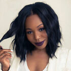 Brazilian Women Black Glueless Short Curly Bob Lace Front Hair Wigs Full Wigs