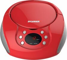 Sylvania Srcd261-b-red Portable Cd Player With Am/fm Radio [red] (srcd261bred)