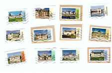 Serie complete timbres obliteres Architecture Renaissance en France - 2015