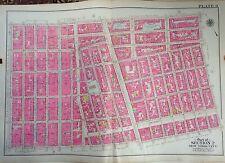 Orig 1908 G.W. Bromley Lower East Side Greenwich Village Manhattan Tlas Map