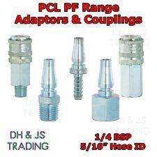 "PCL PF Range Couplings & Adaptors - 1/4 BSP & 5/16"" Airline Air Line Coupling"