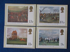 Post Office Postcards - Set of 4 - 1979 - Horse Racing
