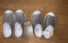 Size 12 Natives Native Slip On Shoes Youth NWT Silver Jefferson Bling! Girls