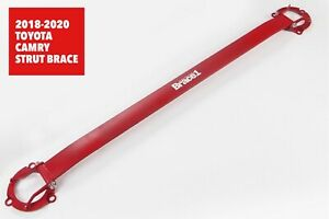 BRACE1 PERFORMANCE ALUMINUM STRUT BAR FOR 2018-2021 TOYOTA CAMRY B1-300R RED