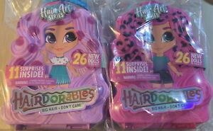 2x Hairdorables Surprise Doll Hair Art 11 Surprises BIG HAIR DON'T CARE Sealed!