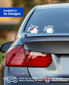 Baby on Board Car Sticker Window Safety Warning Sign for Boy & Girl