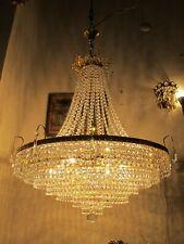 """Antique Vnt Gigantic Austrian Real Swarovski Crystal Chandelier 1940's 26"""" dmtRR"""