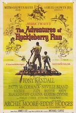 THE ADVENTURES OF HUCKLEBERRY FINN Movie POSTER 27x40 Tony Randall Eddie Hodges