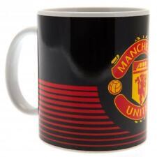 Manchester United Fc Man Utd Black Ceramic Collectors Gift Coffee Tea Mug LN