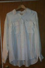 Vintage VALENTINO UOMO Sheer Beige Off White 100% Silk Shirt Top XL
