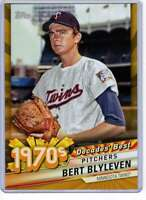 Bert Blyleven 2020 Topps Decades Best 5x7 Gold #DB-38 /10 Twins