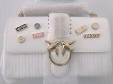 PINKO White LOVE Pin Crossbody Tracolla Bag