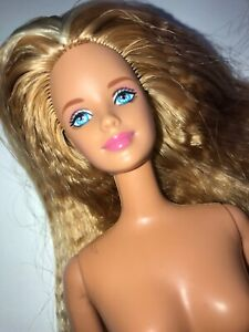 1998 Butterfly Art Barbie Nude Doll (209) Mattel Two-tone Long Blonde Crimped