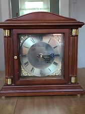 BULOVA Bramley Walnut Shelf/Mantel Clock B1843 Westminster Chimes