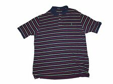 Men Ralph Lauren Polo Striped Navy Blue Red Yellow Golf Shirt Size 1X Big & Tall