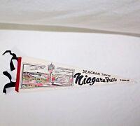 """Vintage """"SEAGRAM TOWER NIAGRA FALLS CANADA"""" 22 1/2"""" Felt Pennant"""