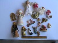 Lot of 19 Vintage Christmas Angels Ornaments Dickson Japan plus more